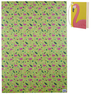 Tropical Wrapping Paper and Gift Tags Set