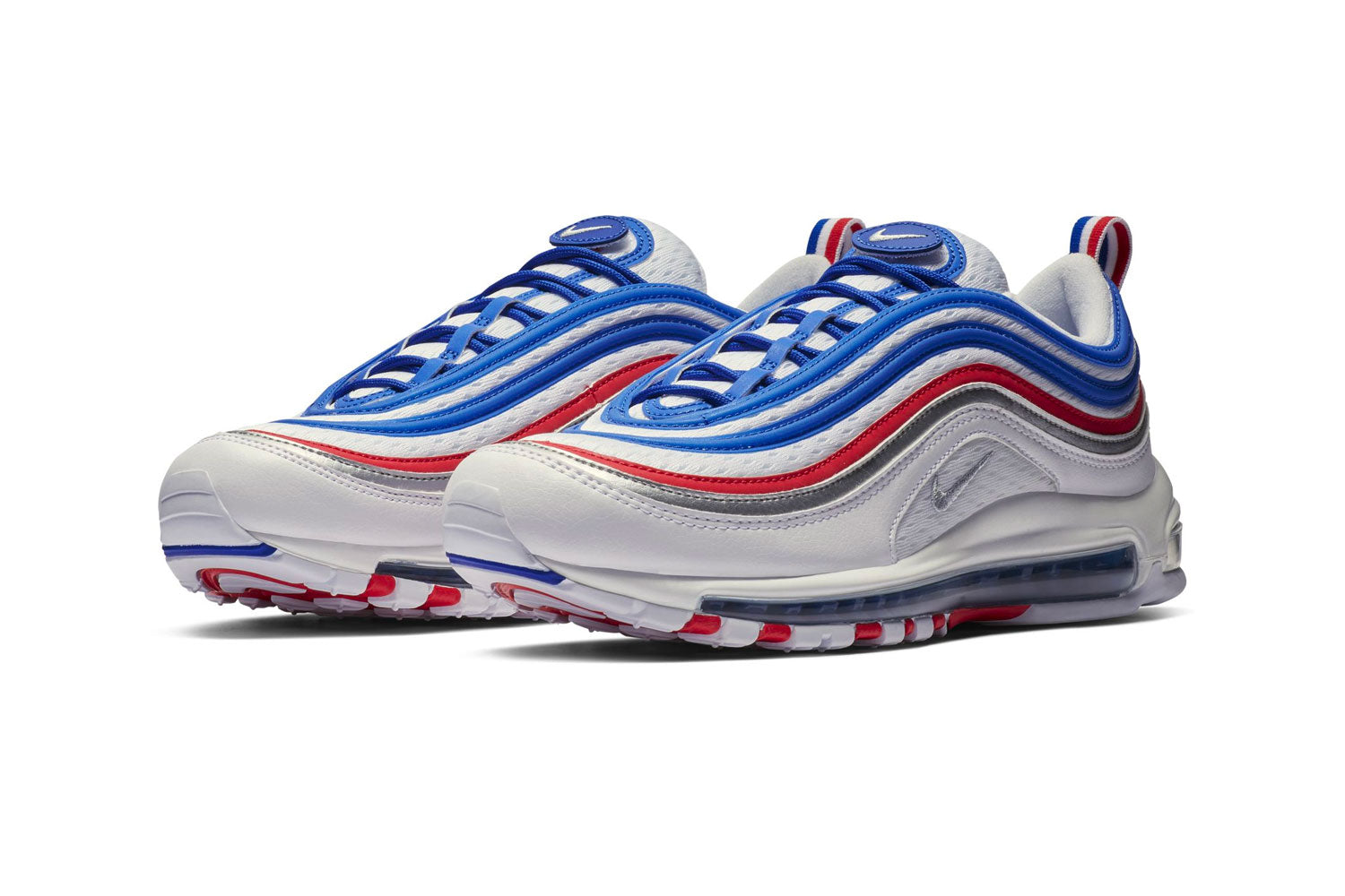 Nike Air Max 97 'France' Royal, Silver & Red | END.