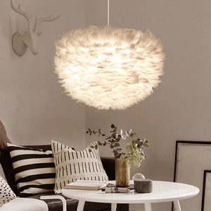 Feather pendant light