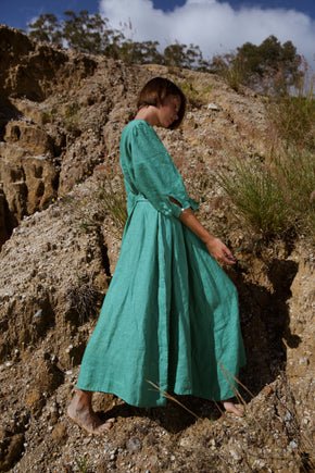 Lulu Dress in Fern