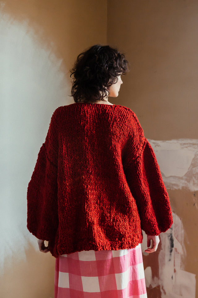 Ruth Cardigan Deep Red