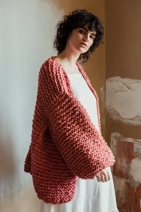Norah Cardigan Dusty Rose