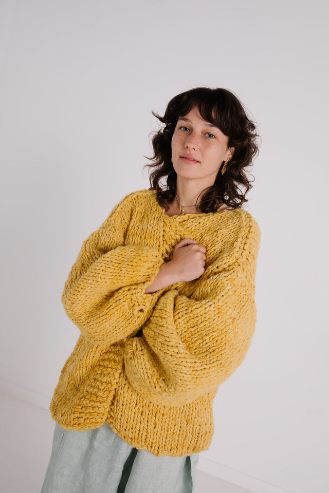 Ruth Cardigan Marigold (preorder March delivery)