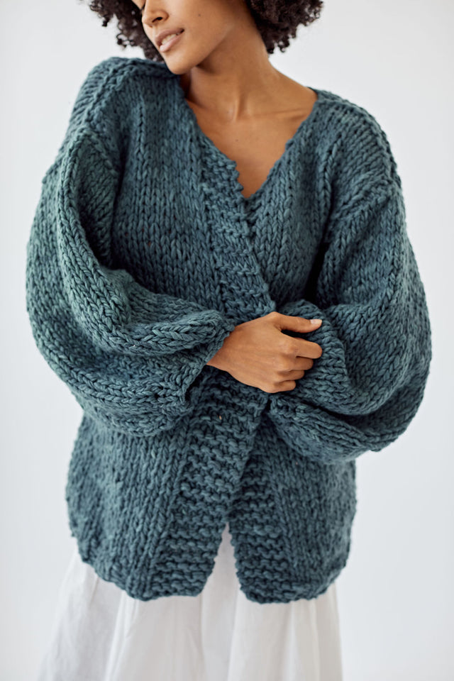 Ruth Cardigan Deep Ocean