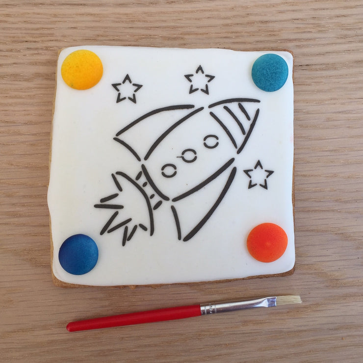 Paint Your Own Cookie - Rocket
