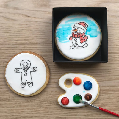 Paint-Your-Own Snowman and Gingerbread Man Cookies