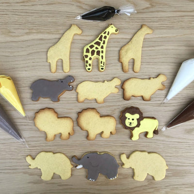 African Animals Cookie Decorating Kit