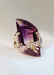 Ametrine Marquise Ring - Wire Wrapped