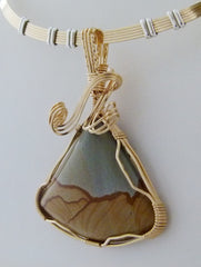 Cripple Creek - Scenic Beauty  - Wire Wrapped Pendant