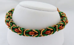 Fall Colors Byzantine Chainmaille Bracelet
