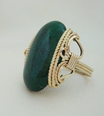 Green Mountain Jade Ring - Wire Wrapped Ring