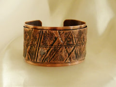 Middle Fold Pure Copper Form Fold Cuff Bracelet