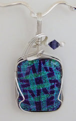 Purple and Teal Dichroic Pendant