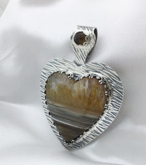Water Level Agate Heart - Stunning!
