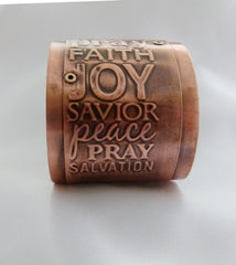 Words of Faith Pure Copper Large Cuff Bracelet