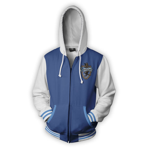 Harry Potter Ravenclaw Men Women Hoodie Sweatshirt Sweater Zipper Jacket Coat