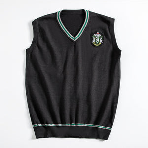 Harry Potter #17 Cosplay Sweater Clothes Slytherin Costume Magic School Party Uniform