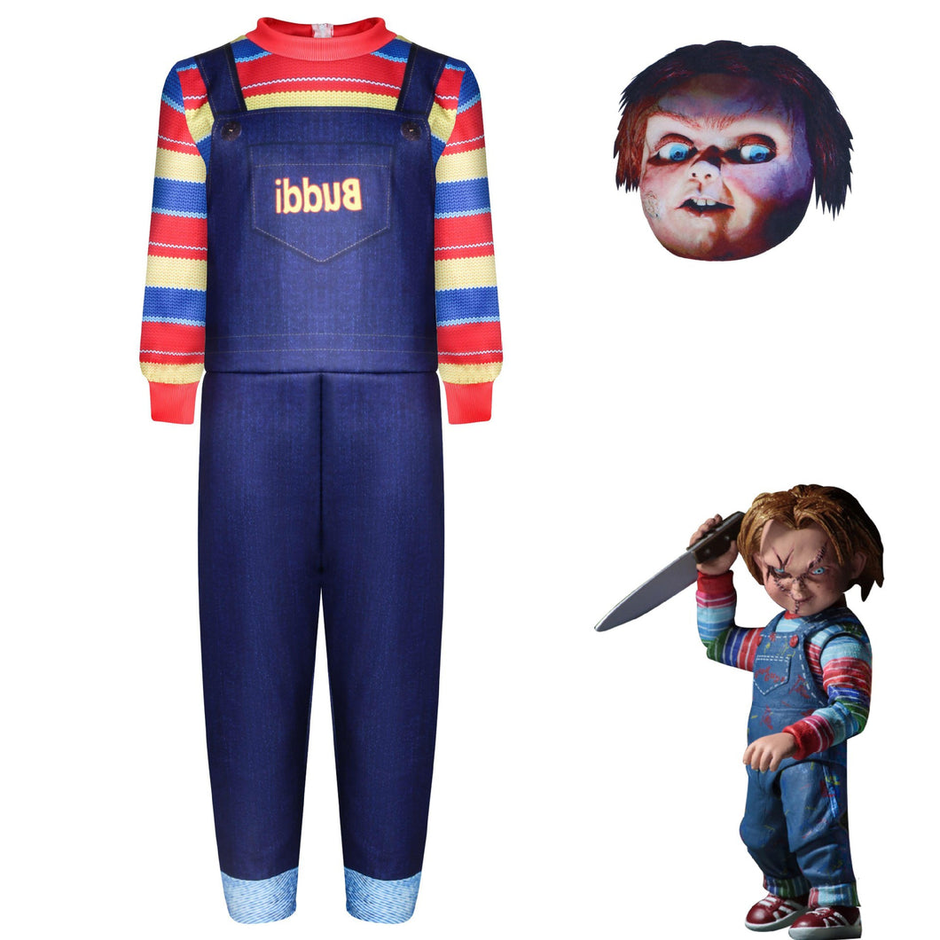 Tom Holland Child's Play Jumpsuits Uniform Halloween Cosplay Costume Childs Play Bodysuit For Kids