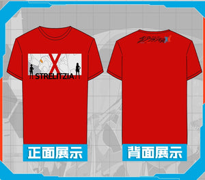 DARLING in the FRANXX Cosplay Costume Zero 002 Red T-Shirt