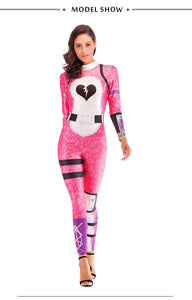 Fortnite Cuddle Team Leader Bear Jumpsuit Halloween Cosplay Costume For Woman