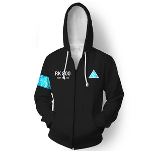 Detroit: Become Human Connor RK800 Adults Autumn Winter 3D Printing Coat