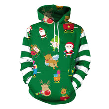 Load image into Gallery viewer, Ugly Christmas Reindeer Sweater Hoodie
