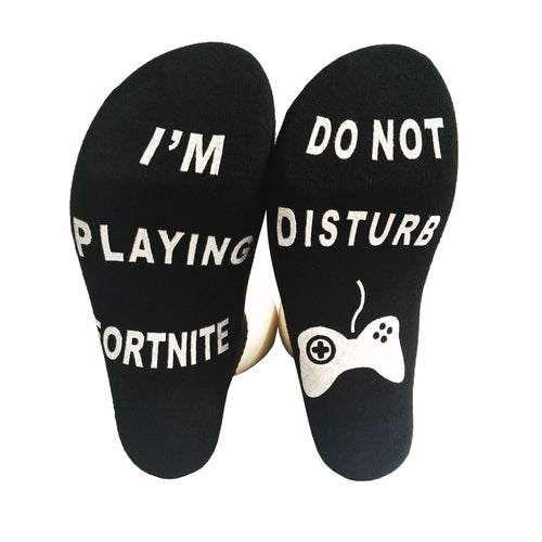 Fortnite Socks, Black Socks Do Not Disturb! Christmas, Xbox Gamer Socks