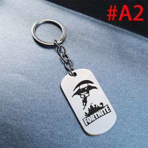 Game Fortnite Battle Royale Keychain Stainless Steel  Key Chain
