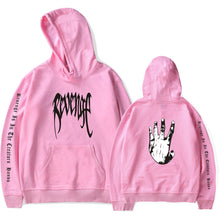 Load image into Gallery viewer, REVENGE 'KILL' HOODIE- White Print- XXXTentacion Bad Vibes Forever