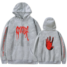 Load image into Gallery viewer, REVENGE 'KILL' HOODIE- Red Print- XXXTentacion Bad Vibes Forever