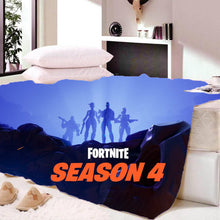 Load image into Gallery viewer, Game Fortnite Season 4 Sherpa Fleece Bedding Blanket Game Skin Xbox
