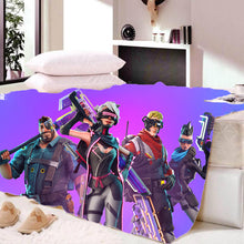 Load image into Gallery viewer, Game Fortnite Battle Royale Wool Sherpa Fleece Bedding Blanket Game Skin PS4