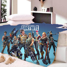 Load image into Gallery viewer, Game Fortnite Battle Royale Sherpa Fleece Bedding Blanket Game Skin PS4