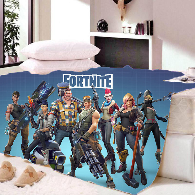 Game Fortnite Battle Royale Sherpa Fleece Bedding Blanket Game Skin PS4