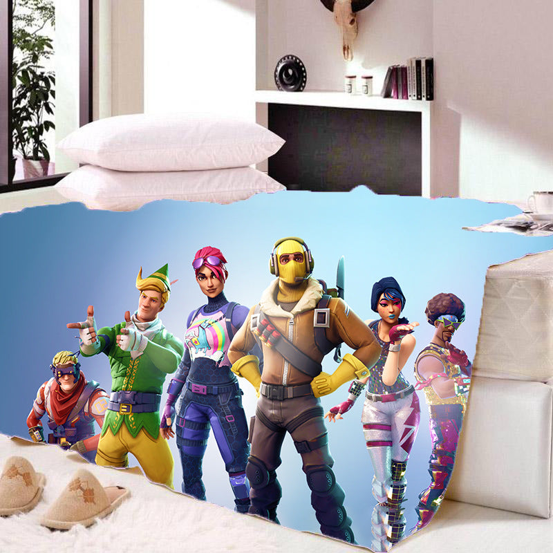 Game Fortnite Sherpa Fleece Blanket Game Skin PS4