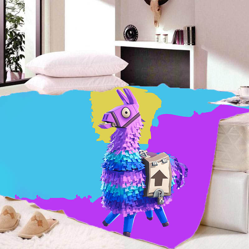 Game Fortnite Llama Sherpa Fleece Bedding Blanket Game Skin Xbox