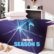 Load image into Gallery viewer, Fortnite Season 5 Sherpa Fleece Soft Warm Bedding Blanket Game Skin Xbox