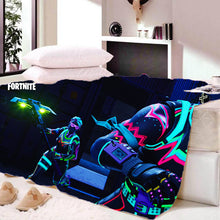 Load image into Gallery viewer, Fortnite Battle Royale Sherpa Fleece Soft Warm Bedding Blanket Game Skin PS4