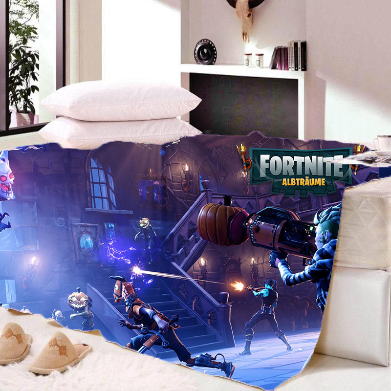Game Fortnite Battle Royale Sherpa Fleece Soft Warm Bedding Blanket Game Skin PS4
