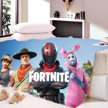 Load image into Gallery viewer, Game Fortnite Bunny Raider Sherpa Fleece Soft Warm Bedding Blanket Game Skin PS4