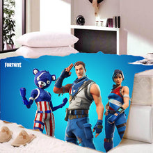 Load image into Gallery viewer, Game Fortnite Bedding Sherpa Fleece Soft Warm Bedding Blanket Game Skin Xbox