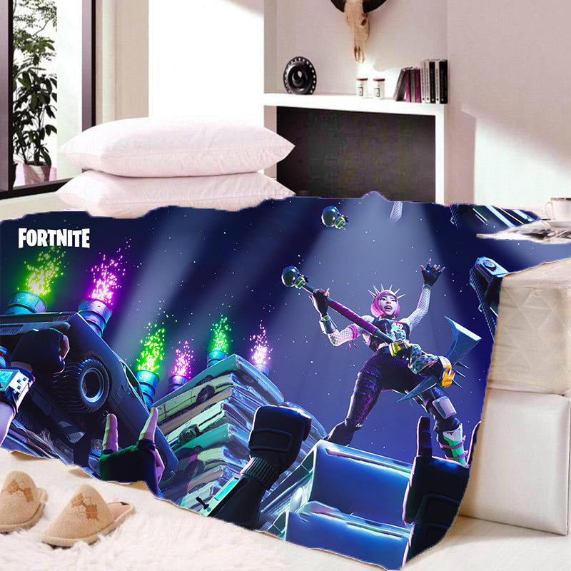 Game Fortnite Sherpa Fleece Soft Warm Bedding Blanket Game Skin Xbox