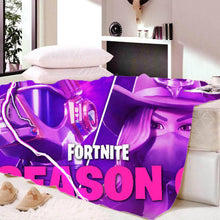 Load image into Gallery viewer, Game Fortnite Season 6 Sherpa Fleece Soft Bedding Blanket Game Skin Xbox