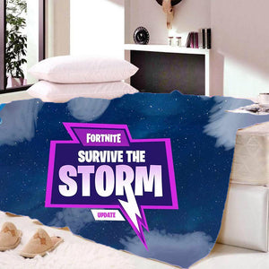 Game Fortnite Survive The Storm Update Sherpa Fleece Soft Bedding Blanket Game Skin Xbox
