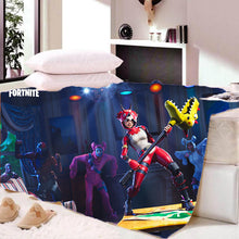 Load image into Gallery viewer, Game Fortnite Tricera Ops Sherpa Fleece Soft Bedding Blanket Game Skin Xbox