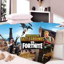 Load image into Gallery viewer, Playunknown's Battlegrounds Fortnite  Sherpa Fleece Soft Bedding Blanket Game Skin Xbox