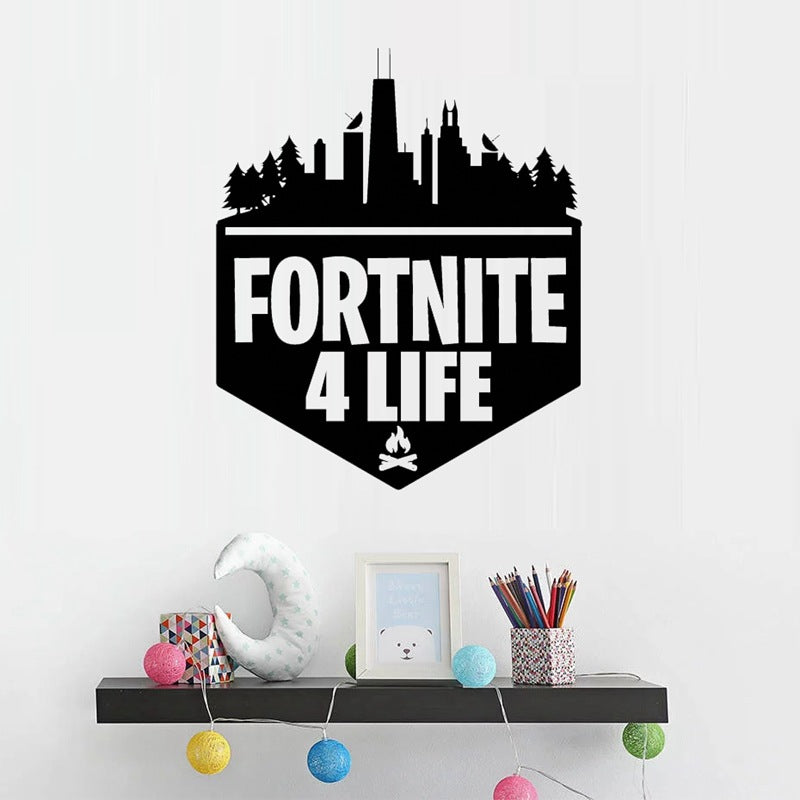 Game Fortnite Xbox Ps4 Vinyl Decal Gaming Bedroom Sticker