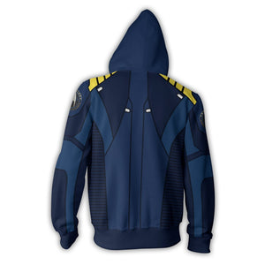 Star Trek Beyond Captain Kirk Cosplay Costume Hoodie Sweatshirts Sweater Zipper Jackets