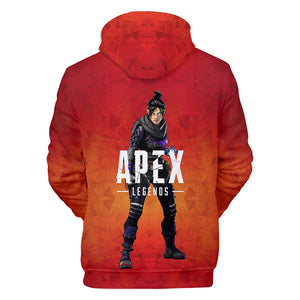 Game Apex Legends Wraith Cosplay Sweater Hoodie For Kids Adults