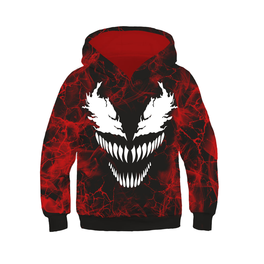 Superhero Venom Symbiote Cosplay Sweater Hoodie For Kids Boy
